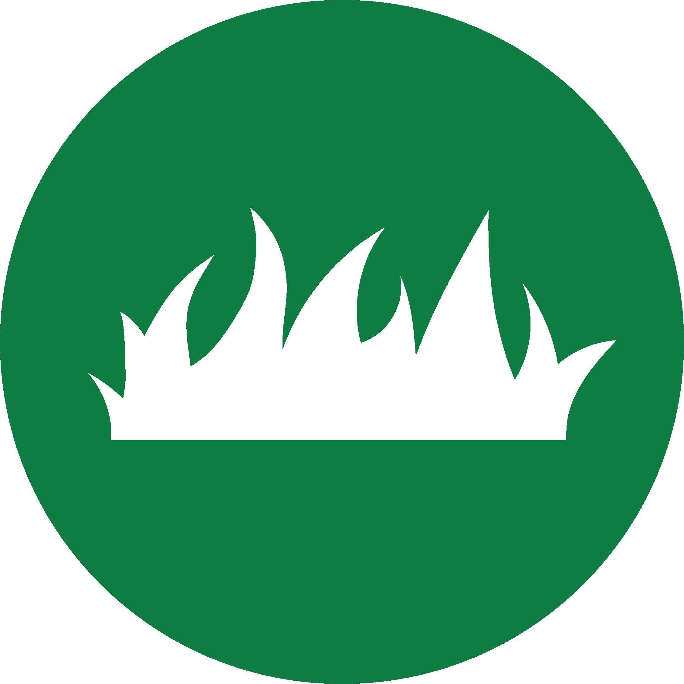 custom lawn care icon green